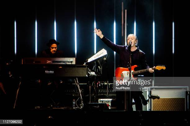 Curt Smith of Tears for Fears performs on stage at Mediolanum Forum on February 23 2019 in Milan Italy