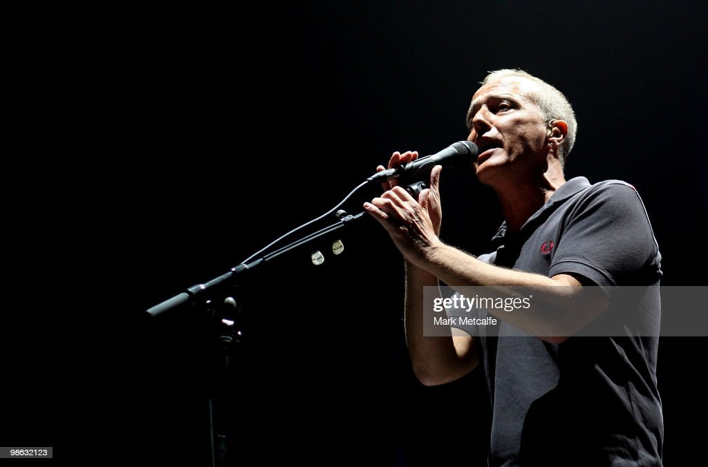 Curt Smith of Tears For Fears performs on stage during their concert at the Sydney Entertainment Centre on April 23, 2010 in Sydney, Australia.