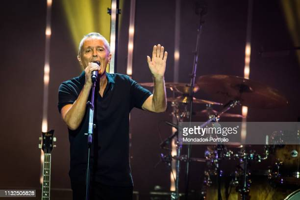Curt Smith of the english new wave and pop rock band Tears For Fears performs live on stage at Mediolanum Forum Milan February 23rd 2019