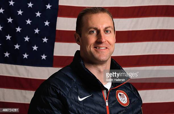 Curt Tomasevicz of the United States Bobsled team poses for a portrait ahead of the Sochi 2014 Winter Olympics on February 3 2014 in Sochi Russia