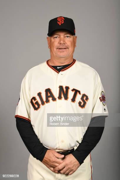 Curt Young of the San Francisco Giants poses during Photo Day on Tuesday February 20 2018 at Scottsdale Stadium in Scottsdale Arizona