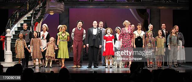 Curtain call at Broadway's 'ANNIE The Musical' Composer Charles Strouse Celebration at Palace Theatre on June 6 2013 in New York City