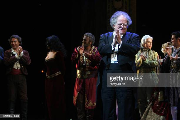 Curtain call at the 125th Anniversary Gala at the Metropolitan Opera House on Sunday night, March 15, 2009.This image;James Levine with, from left,...
