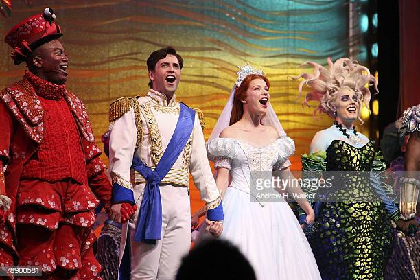Curtain call at the opening night of Broadway's The Little Mermaid at the LUNTFONTANNE Theater on January 10 2008 in New York City