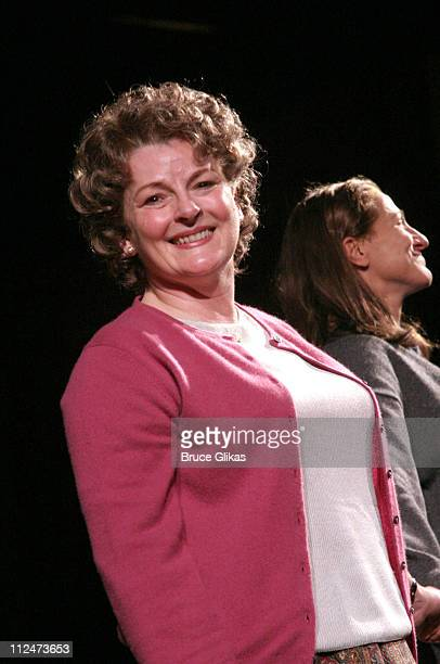 Brenda Blethyn and Edie Falco during Opening Night of 'Night Mother' on Broadway at The Royale Theater then Tavern on The Green in New York NY United...