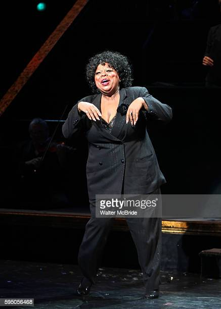 Curtain Call - Carol Woods as Kara DioGuardi makes her Broadway Debut as Roxie Hart in 'CHICAGO' on Broadway at the Ambassador Theatre in New York...