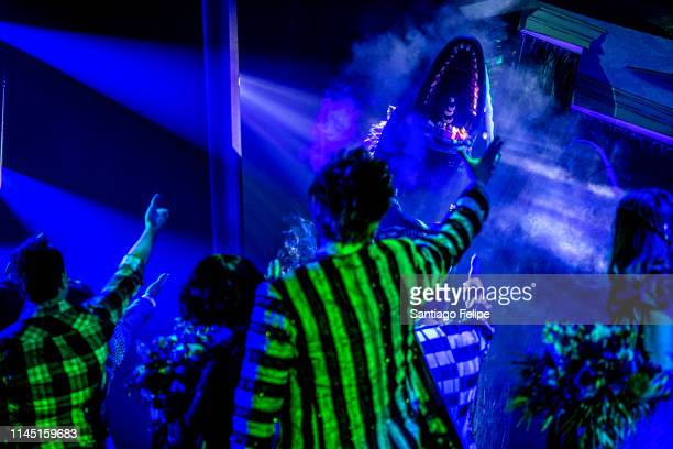 Curtain call during 'Beetlejuice' broadway opening night at Winter Garden Theatre on April 25 2019 in New York City