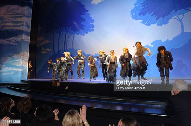 Curtain call for 'Chitty Chitty Bang Bang' during 'Chitty Chitty Bang Bang' Broadway Opening Night Curtain Call and After Party at The Hilton Theatre...