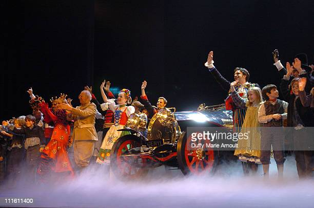 """Curtain call for """"Chitty Chitty Bang Bang"""" during """"Chitty Chitty Bang Bang"""" Broadway Opening Night - Curtain Call and After Party at The Hilton..."""