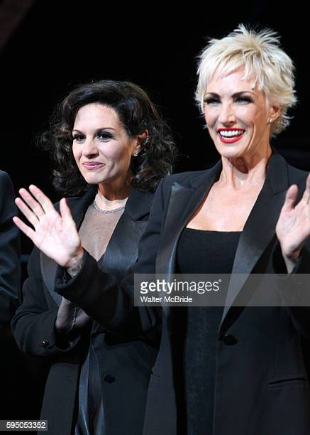 Curtain Call - Kara DioGuardi with Amra-Faye Wright as she makes her Broadway Debut as Roxie Hart in 'CHICAGO' on Broadway at the Ambassador Theatre...