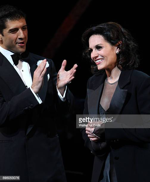 Curtain Call - Kara DioGuardi with Tony Yazbeck as she makes her Broadway Debut as Roxie Hart in 'CHICAGO' on Broadway at the Ambassador Theatre in...