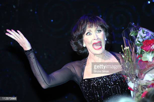 Curtain Call of Chita Rivera during Chita Rivera The Dancer's Life Broadway Opening Night After Party at The Gerald Schoenfeld Theatre then The...