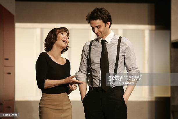 Curtain Call Of 'Les Vacances De Josepha' With Daniele Evenou And Her Son JeanBaptiste Martin At The Rive Gauche Theater In Paris France On May 09...