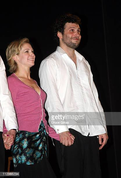Curtain Call with Carrie Preston and Jeremy Sisto during Festen Broadway Opening Night Curtain Call and Departures at The Music Box Theatre in New...