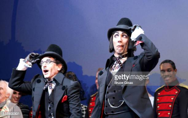 Curtain Call with Chip Zein and Robert Sella during 'Chitty Chitty Bang Bang' Broadway Opening Night Curtain Call at The Hilton Theater in New York...