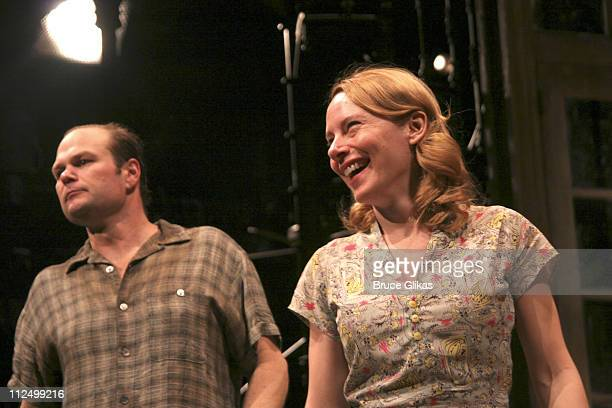 Curtain Call with Chris Bauer and Amy Ryan during A Streetcar Named Desire on Broadway Curtain Call and After Party at Roundabout Theater at Studio...