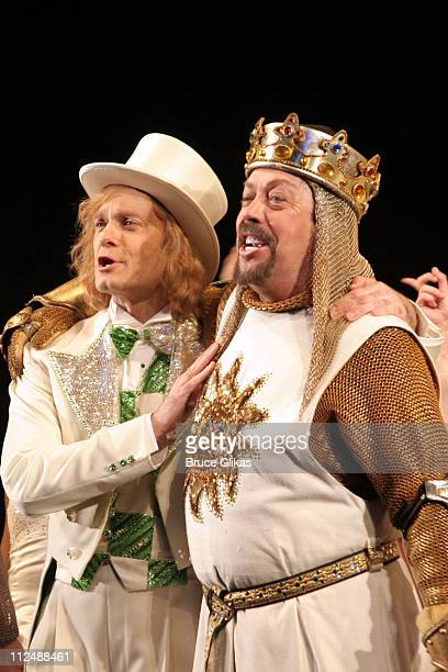 Curtain Call with David Hyde Pierce and Tim Curry during Monty Python's Spamalot Opening Night on Broadway Curtain Call at The Shubert Theater in New...