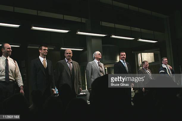 Curtain Call with Jordan Lage Frederick Weller Jeffrey Tambor Alan Alda Liev Schreiber Gordon Clapp and Tom Wopat