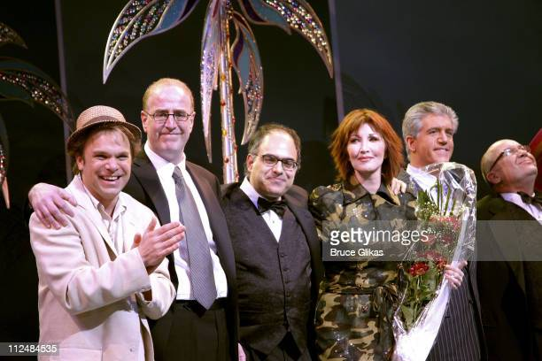 Curtain Call with Norbert Leo Butz Jeffrey Lane book writer David Yazbek composer Joanna Gleason Gregory Jbara and Jack O'Brien director