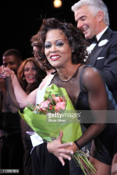 Curtain Call with Robin Givens and John O'Hurley during John O'Hurley and Robin Givens Opening Night in Chicago on Broadway at The Ambassador Theater...