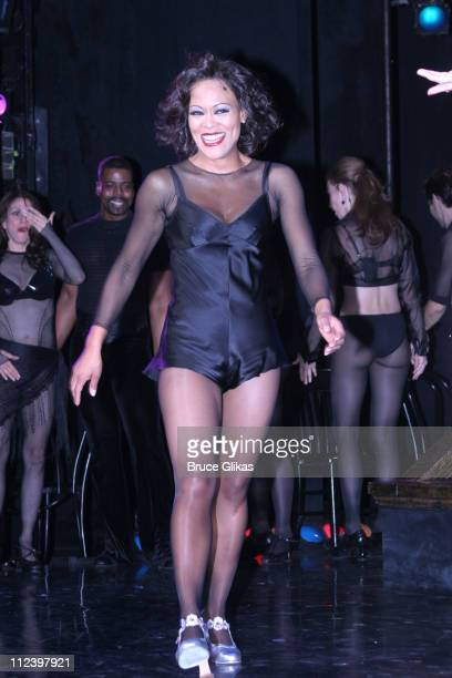 Curtain Call with Robin Givens during John O'Hurley and Robin Givens Opening Night in Chicago on Broadway at The Ambassador Theater in New York City...