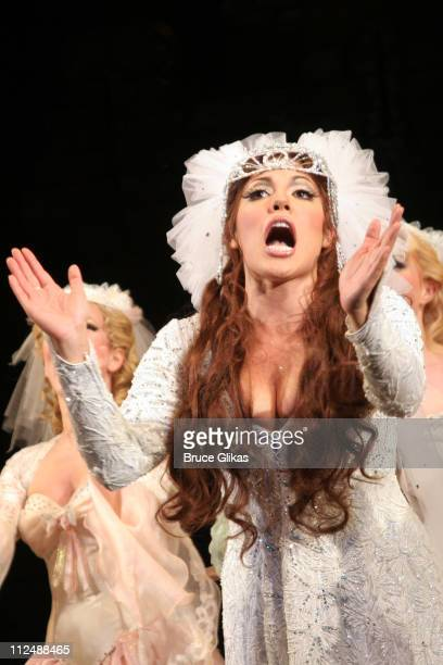 Curtain Call with Sara Ramirez during Monty Python's 'Spamalot' Opening Night on Broadway Curtain Call at The Shubert Theater in New York City New...