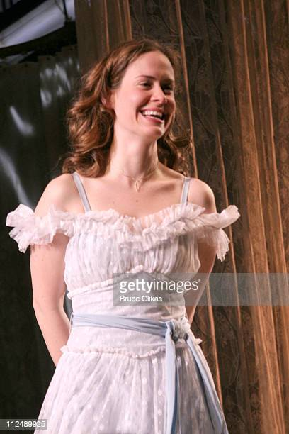 Curtain Call with Sarah Paulson during 'The Glass Menagerie' Opening Night on Broadway at Ethel Barrymore Theatre Bryant Park Grill in New York City...