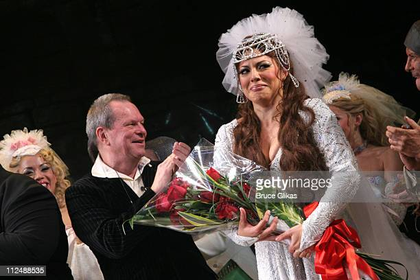 Curtain Call with Terry Gilliam and Sara Ramirez during Monty Python's 'Spamalot' Opening Night on Broadway Curtain Call at The Shubert Theater in...