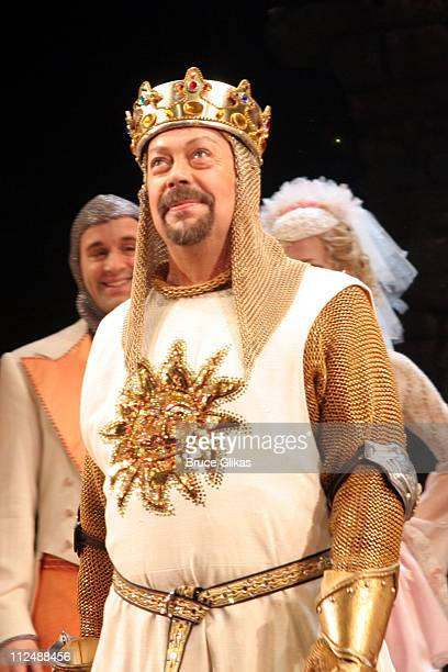 Curtain Call with Tim Curry during Monty Python's 'Spamalot' Opening Night on Broadway Curtain Call at The Shubert Theater in New York City New York...