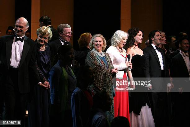 Curtain Call with Walter Charles Angela Lansbury George Hearn Becky Ann Baker and Barbara Cook Ann Hathaway Betty Buckley Melissa Errico and Raul...