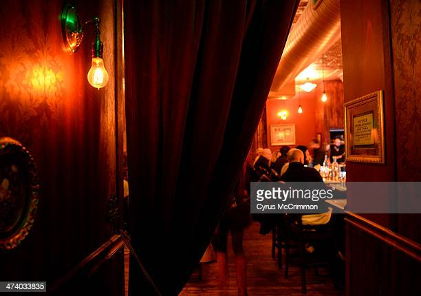 A curtain is halfway pulled back from the entrance to the bar area at Williams and Graham at 3160 Tejon Street in Denver on Thursday February 20 2014...