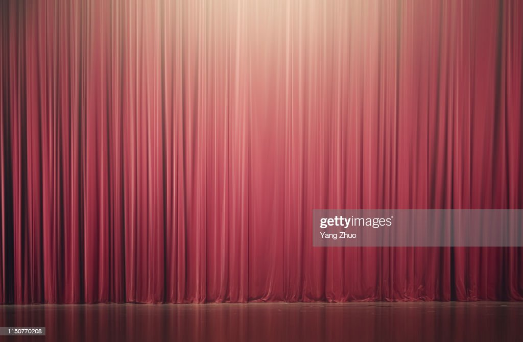curtain of stage : Stock-Foto