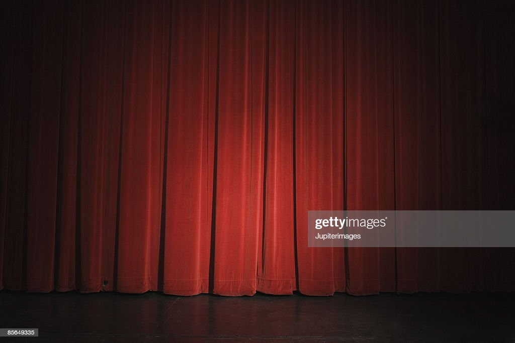 Curtain on stage : Stock Photo