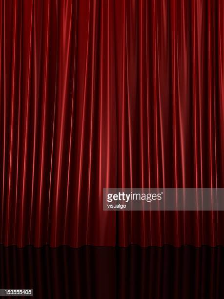 curtain - spotlight film stock photos and pictures