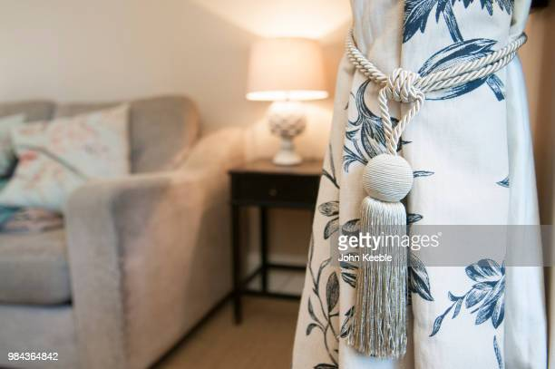 curtain tie back detail - tassel stock pictures, royalty-free photos & images