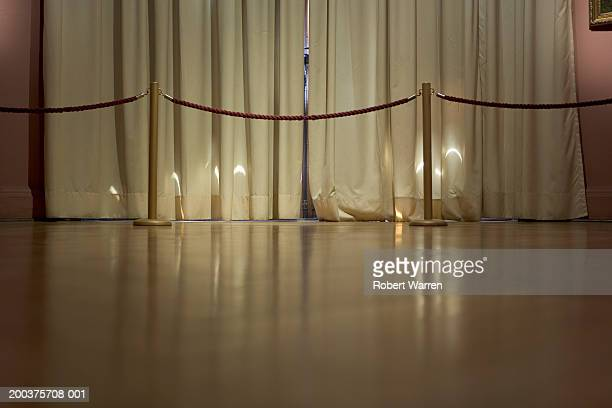 curtains and divider - roped off stock photos and pictures