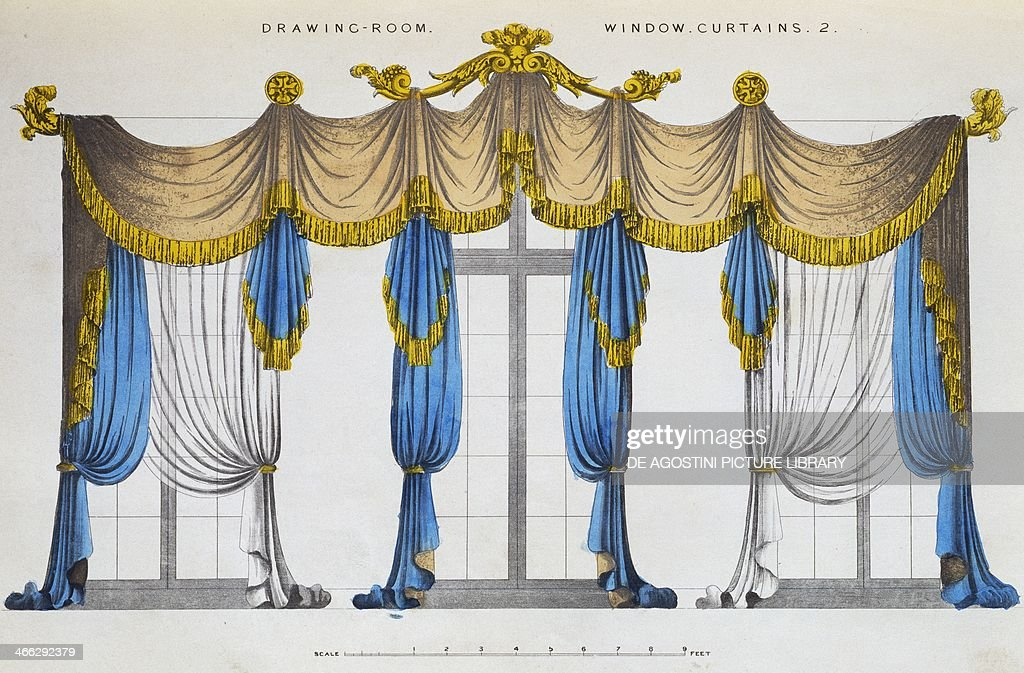Curtains And Drapes For The Windows In Drawing Room 2 Illustration News Photo Getty Images