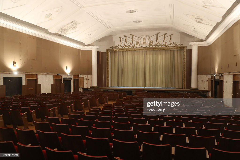 Curtains hang over the stage in the theater and cinema in the officers' building at the former Soviet military base on January 26, 2017 in Wuensdorf, Germany. Wuensdorf, once called 'The Forbidden City,' was the biggest base for the Soviet armed forces in communist East Germany from 1945 until the last Soviet troops left in the early 1990s following the end of the Cold War and the reunification of Germany. While Soviet troops pulled out of eastern Europe after 1989, Russian troops have in recent years intervened in Ukraine. The NATO military alliance has strengthened its presence in the Baltic states in an effort to prevent similar Russian intervention there.