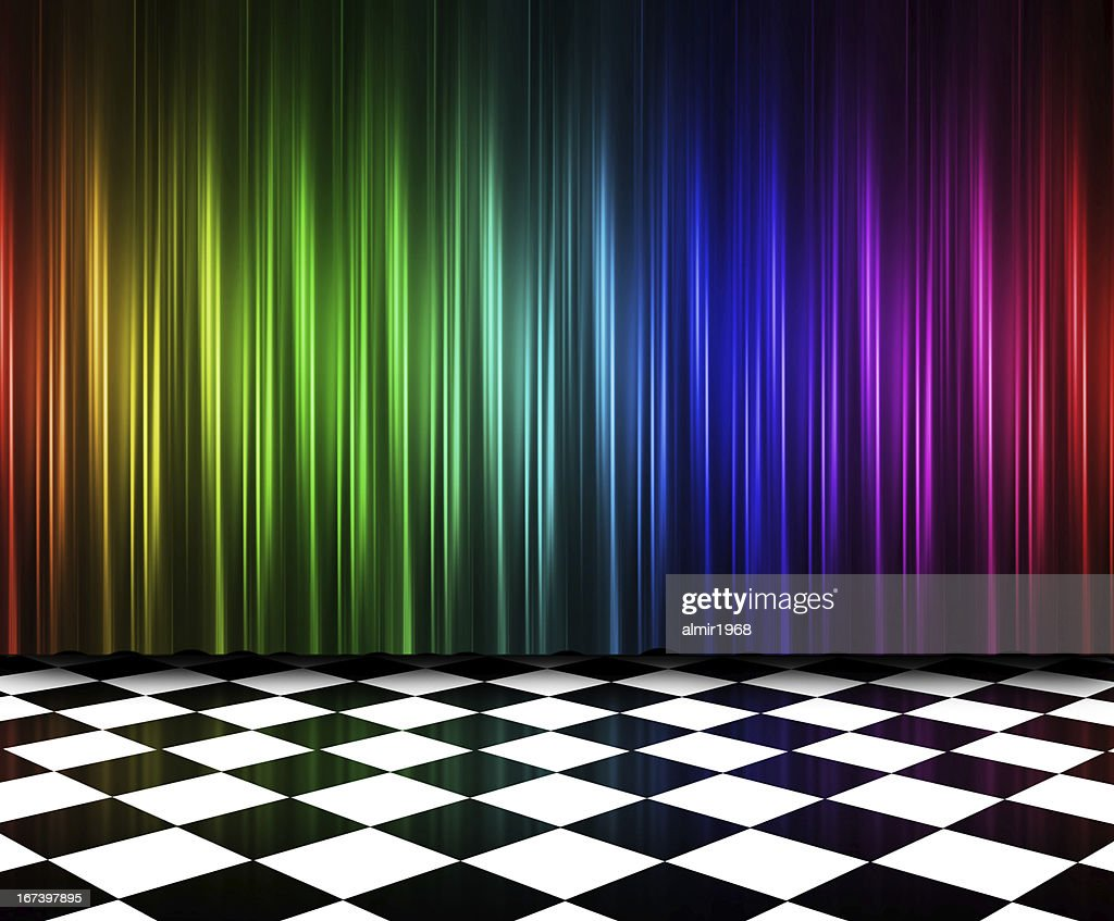 Curtains in multi colors : Stockfoto