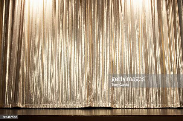 Curtains on stage