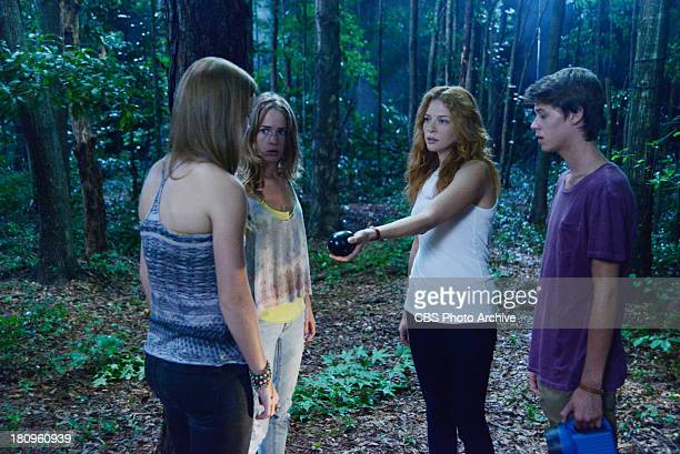 Curtains Pictured Norrie Angie Julia and Joe see Alice who tells them what must be done on the first season finale of UNDER THE DOME Monday Sept 16...