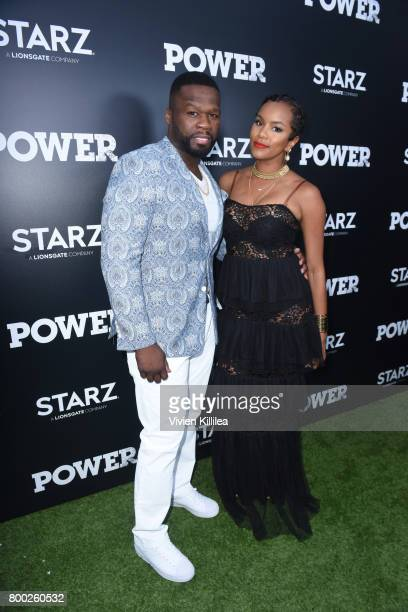 Curtis '50 Cent' Jackson and actress LeToya Luckett attend STARZ 'Power' Season 4 LA Screening And Party at The London West Hollywood on June 23 2017...