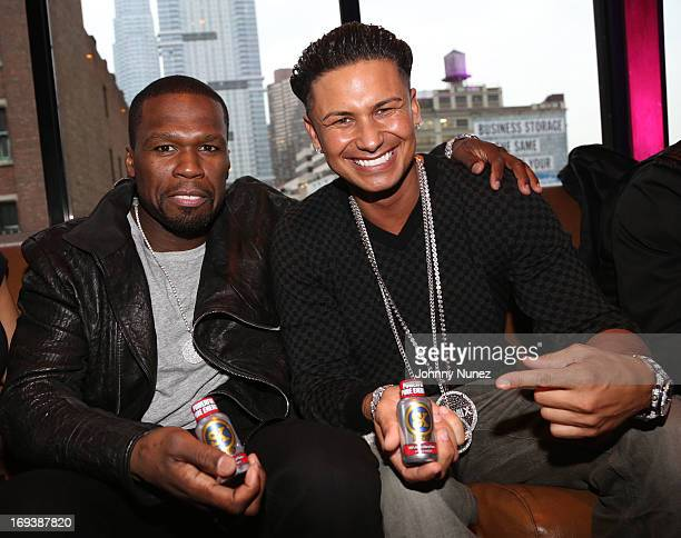 Curtis '50 Cent' Jackson and DJ Pauly D host the Summer Kickoff Event at Hudson Terrace on May 23 2013 in New York City
