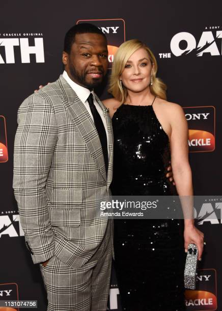 Curtis '50 Cent' Jackson and Elisabeth Rohm arrive at Sony Crackle's 'The Oath' Season 2 exclusive screening event at Paloma on February 20 2019 in...