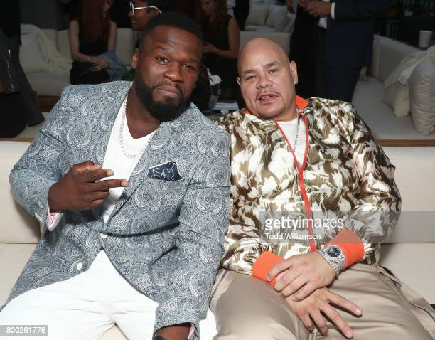 Curtis '50 Cent' Jackson and Fat Joe attend STARZ 'Power' Season 4 LA Screening And Party at The London West Hollywood on June 23 2017 in West...