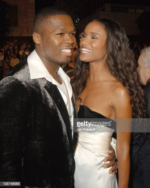 Curtis 50 Cent Jackson and Joy Bryant during Get Rich Or Die Tryin' Los Angeles Premiere Arrivals at Grauman's Chinese Theater in Hollywood...