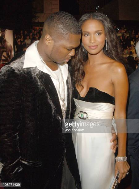 Curtis '50 Cent' Jackson and Joy Bryant during 'Get Rich Or Die Tryin'' Los Angeles Premiere Arrivals at Grauman's Chinese Theater in Hollywood...