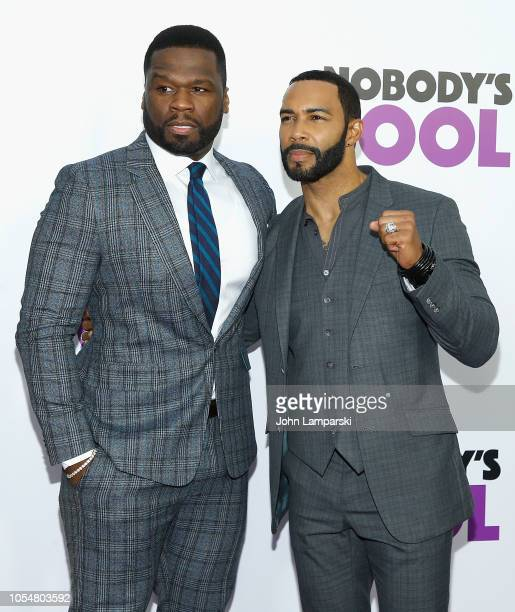 Curtis '50 Cent' Jackson and Omari Hardwick attend 'Nobody's Fool' New York Premiere at AMC Lincoln Square Theater on October 28 2018 in New York City