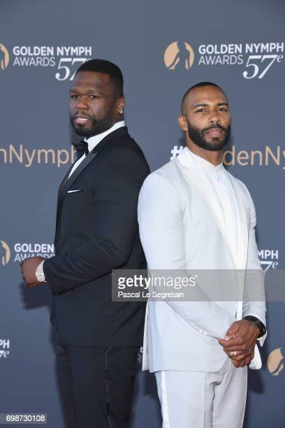 Curtis '50 Cent' Jackson and Omari Hardwick attend the closing ceremony of the 57th Monte Carlo TV Festival on June 20 2017 in MonteCarlo Monaco