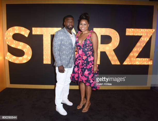 Curtis '50 Cent' Jackson and showrunner Courtney Kemp attend STARZ 'Power' Season 4 LA Screening And Party at The London West Hollywood on June 23...